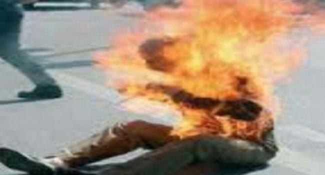 مجهول يضرم النار في جسده أمام البيت الأبيض