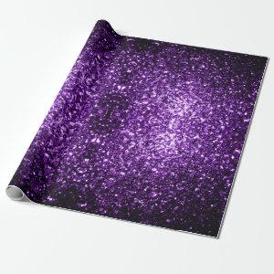 Beautiful Purple glitter sparkles v2 gift wrap