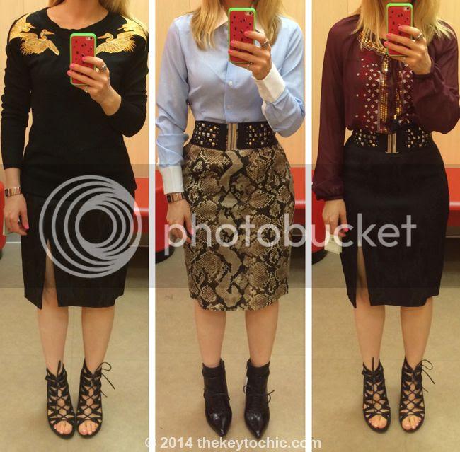 Altuzarra for Target black pencil skirt