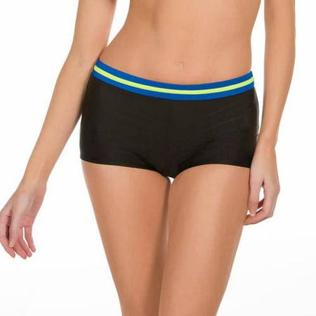 Danskin Now Women's Sporty Boyshort Swimsuit Bottom