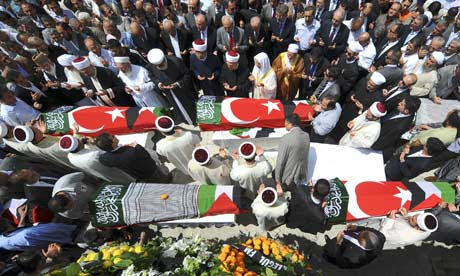 Funeral in Istanbul for victims of Gaza flotilla raid
