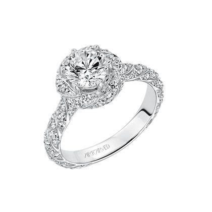 Artcarved Bridal: BAILEY, 31 V605, Twisted Halo Diamond