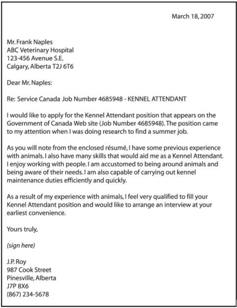 Good Cover Letter Examples Good examples of cover letter