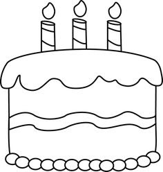 Black And White Birthday Cake Vector Images Illustrations And Clip Art