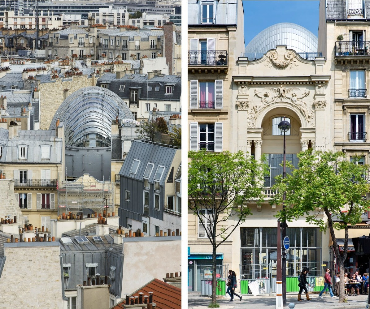 The New Pathe Foundation Headquarters by Renzo Piano Squeezed Into a City Block in Paris France architecture
