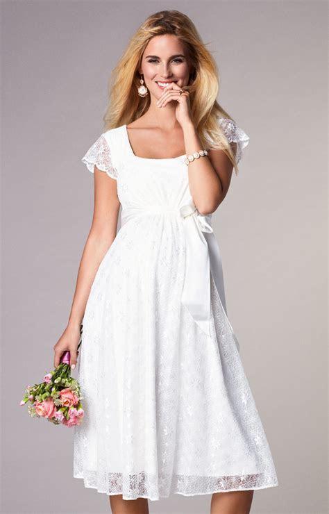 Florence Maternity Wedding Dress Short Ivory   Maternity