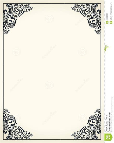 Calligraphic Border Frame. Design Template For Wedding