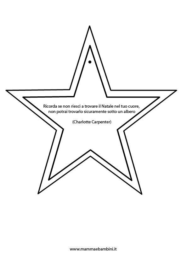 Sagoma Stella Cometa Da Stampare Disegni Di Natale