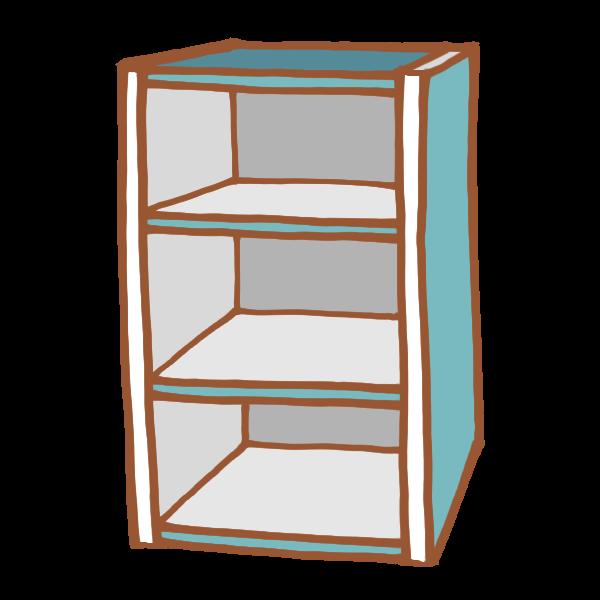 青色のカラーボックスのイラスト かわいいフリー素材が無料のイラスト