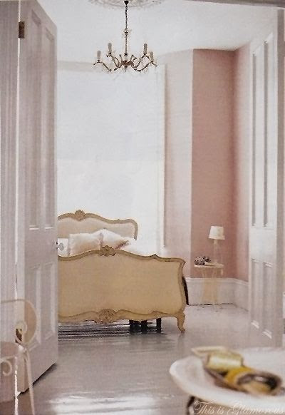 bedroom - love this color palette, the bed  and the wall color, especially.