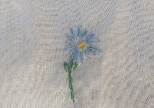blue flower neck line