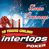 Intertops Poker Hosting Christmas Poker Tournaments Bounty, Free Roll, Guaranteed