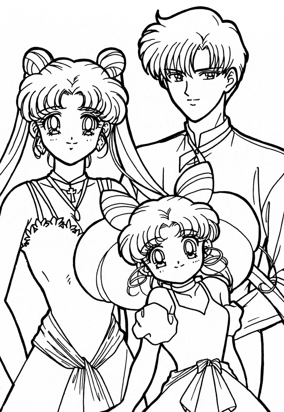 Sailor Moon Group Coloring Pages At Getdrawingscom Free For
