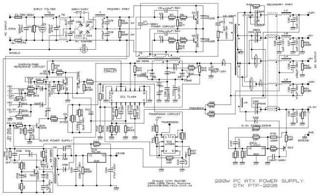 skema pc power suply