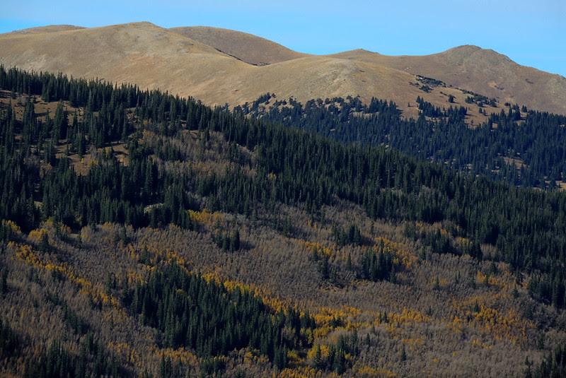 Viewing across Chalk Creek from the Alpine Tunnel rail grade, Sawatch Range, Colorado