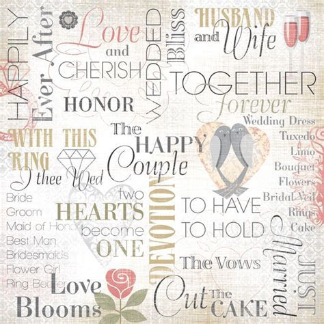 Karen Foster Design   Wedding Collection   12 x 12 Paper