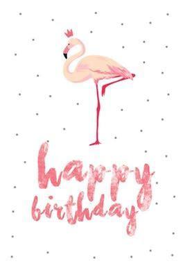 Flamingo birthday   Free Birthday Card   Greetings Island