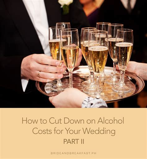 Wedding Alcohol Budget Tips   Philippines Wedding Blog