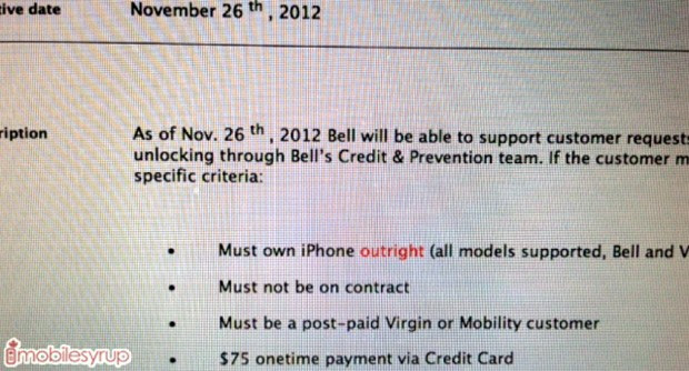 Bell, Virgin Mobile Canada to start unlocking iPhones, at a steep cost