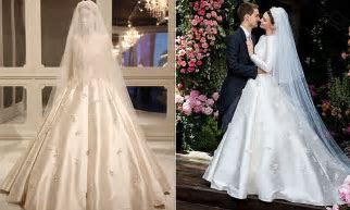Miranda Kerr's wedding gown on display at Dior exhibition