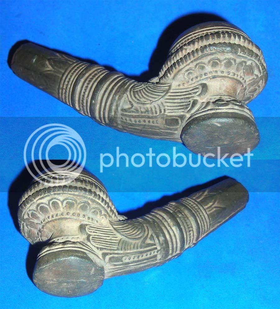 antique clay pipe ca1300-1500 ad rare