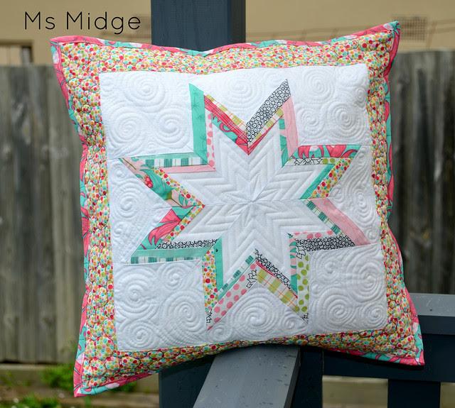 Paper pieced Lonestar Cushion