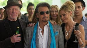 "Christopher Plummer, left, Al Pacino and Katarina Cas in ""Danny Collins."" (Hopper Stone/Hopper Stone, SMPSP) (Hopper Stone/Hopper Stone, SMPSP)"