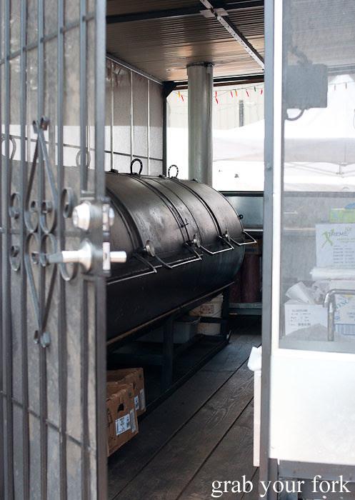 smoking trailer at la barbecue austin texas