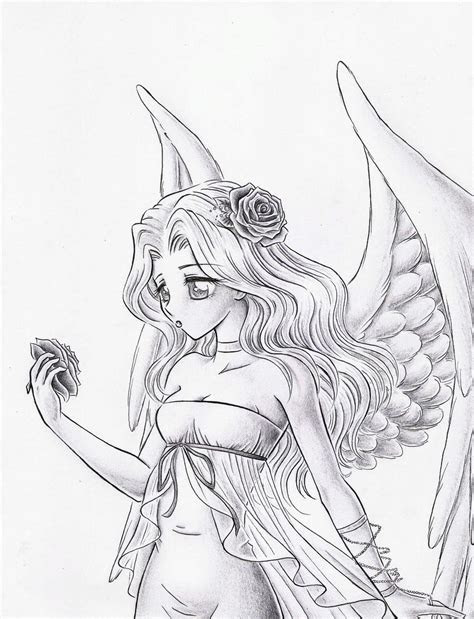 white angel sketch  dayserosi  deviantart