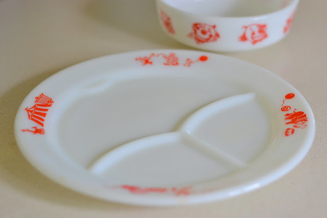 Pyrex Children's Circus Plate & Bowl
