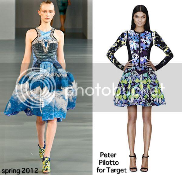 Peter Pilotto flared dresses