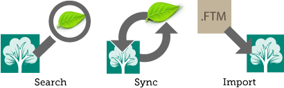 Search, Sync, Import