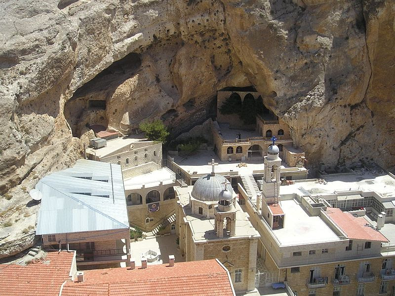 File:Maaloula-St-Thecla from top of rock.jpg