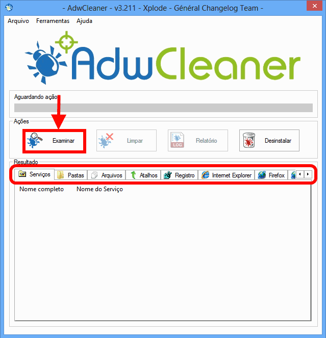 interface AdwCleaner
