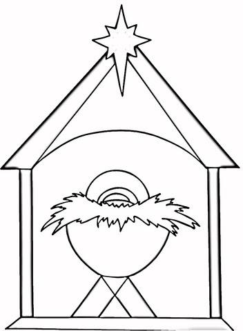 Dibujo De Navidad Cristiana Para Colorear Dibujos Para Colorear