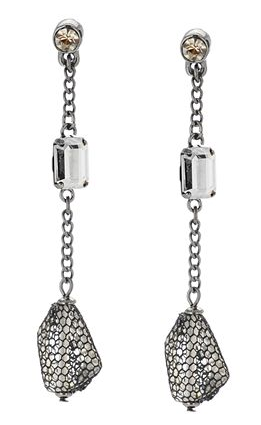 Kenneth Cole Crystal and Beaded Linear Drop Earrings