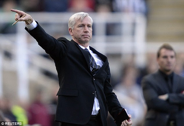 Leading the way: The result leaves Alan Pardew's side just five points above the relegation zone