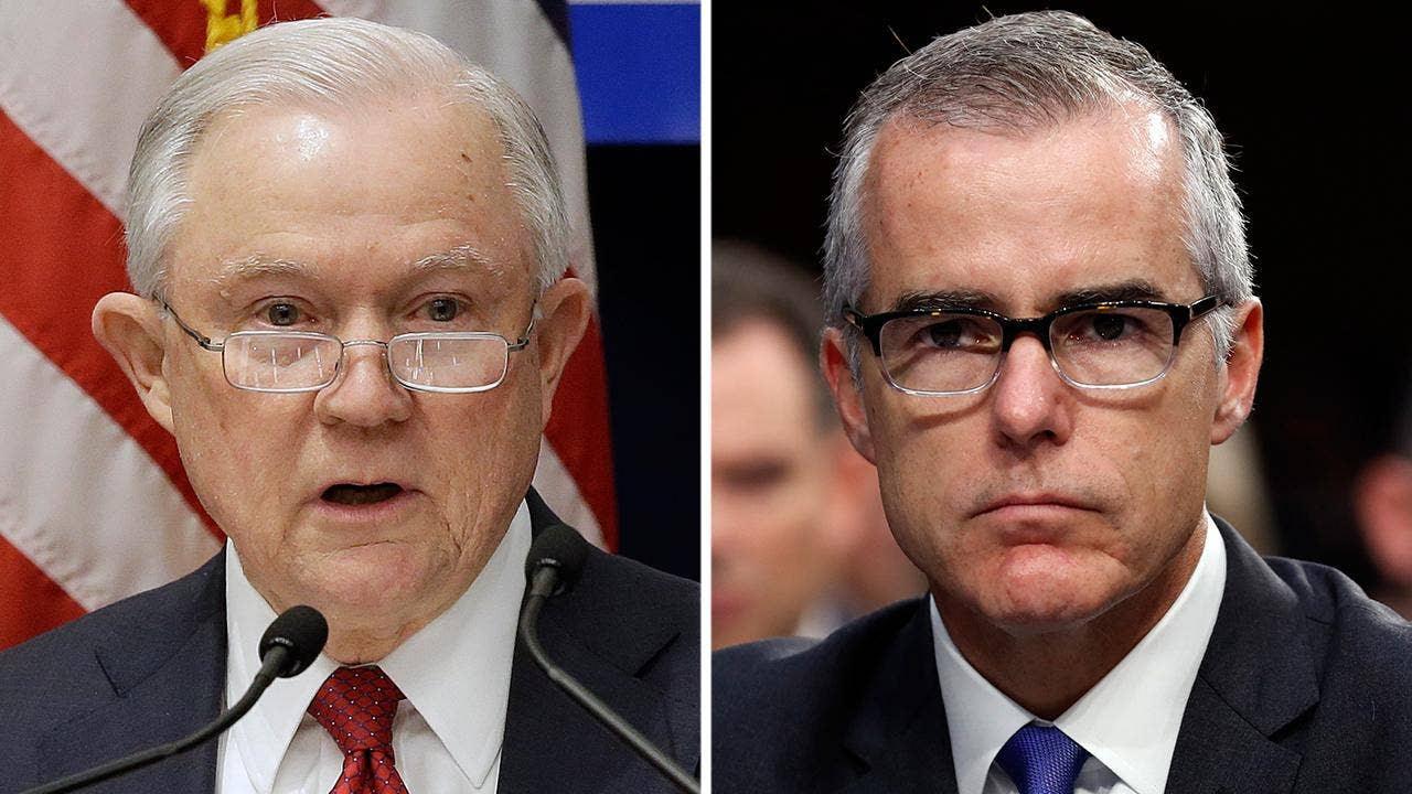 Image result for Sessions mulling firing FBI Deputy Director Andrew McCabe rand paul