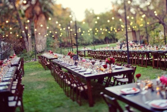 Ideas for a backyard reception for wedding