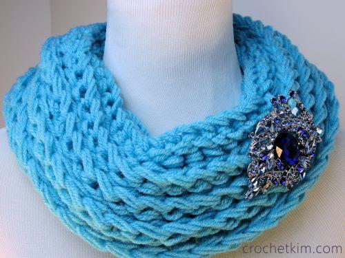CrochetKim Free Crochet Pattern | Ridgie Cowl @crochetkim