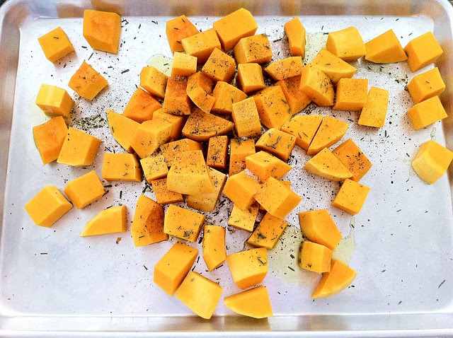 Butternut Squash Seasoned with Oil and Spices
