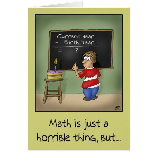 Download this Funny Birthday Cards Math picture