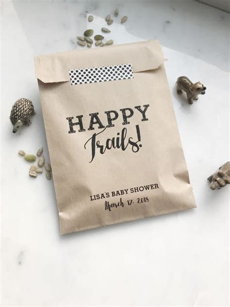 Happy Trails Wedding Trail Mix Favor Bags   SALTED Design