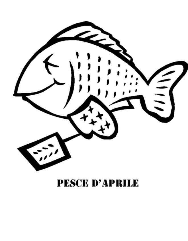 Stampa Disegno Di Pesce Di Aprile Da Colorare