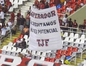faixa adriano flamengo (Foto: Richard Souza/Globoesporte.com)
