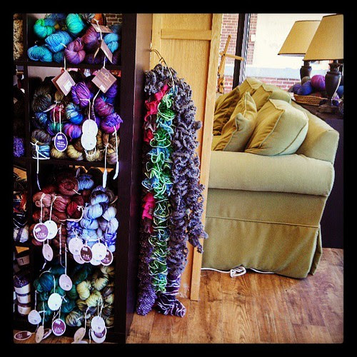 Checking out Twill in downtown Nashua #yarnshop #yarn #knitting
