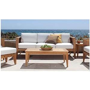 Amazon.com: Craftsman Teak Outdoor Lounge Furniture Set: Patio ...