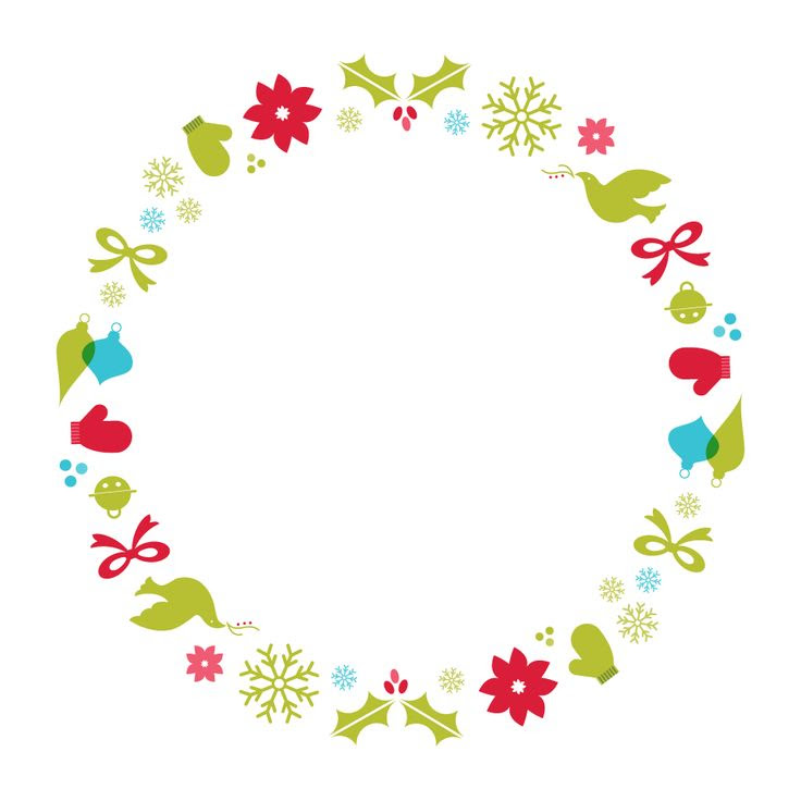 Christmas Border Clip Art Round Christmas Ideas