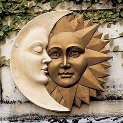 CELESTIAL HARMONY WALL SCULPTURE STATUE SUN & MOON neo-mfg.com