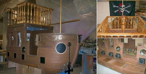Pirate Ship Bed for rich brats - SlipperyBrick.